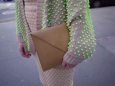 Neon balls on my Neon Sweater.