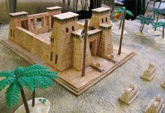 LLOYDIAN MODELLING TIPS: making scenery - Egyptian stone temples
