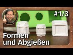 Atelier: Formen aus Silikon und Abgießen #1/3 / silicone molds (Tabletop-Zubehör, TWS) - YouTube