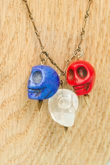 Three skulls around your neck. #OlympicPride @Socialbliss fashion