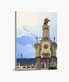 Lienzo Puente Maria Cristina Lienzo en bastidor, vertical 3:4  39,95 € - ¡Envío gratis a partir de 3 artículos!