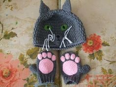 CROCHET HAT MITTENS – Only New Crochet Patterns
