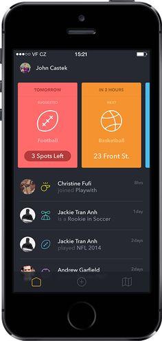 Ios App Design, Web Design, User Interface Design, Mobile Application Design, Mobile Ui Design, Card Ui, App Design Inspiration, Design Ideas, Sports App