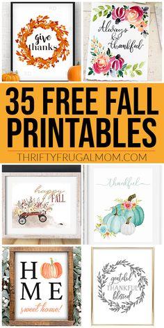35 Free Fall Printables