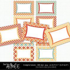 Diamond & Dot Digital Labels Diamond Trellis Patterns by ToutAimee, $4.00