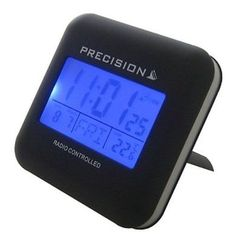 #Precision alarm clock prec0034 radio #controlled blue led touch #sensitive trave,  View more on the LINK: http://www.zeppy.io/product/gb/2/161822934435/