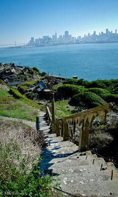 Stairs to Nowhere - San Francisco from Alcatraz.