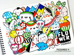 New Color Doodle - Flower   Watch this doodle video on YouTube: www.youtube.com/piccandle