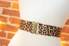 Women's 2 inch leopard print belt by Cinched Apparel Hourglass Figure, Loose Tops, Black Romper, Walk On, Belts, Dress Up, Take That, Bling, Animal