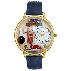 Bowling Navy Blue Leather And Goldtone Watch #WG-G0820005 - http://www.artistic-watches.com/2016/07/21/bowling-navy-blue-leather-and-goldtone-watch-wg-g0820005/