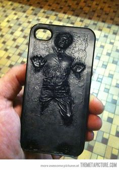 When I fianlly go to the dark side & get an Iphone, this would be the case i'd get. EPIC!!      Han Solo iPhone Case