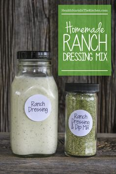 This Homemade Ranch Dressing Mix  is the BEST Ranch EVER!!  http://www.healthstartsinthekitchen.com/recipe/homemade-ranch-dressing-mix/