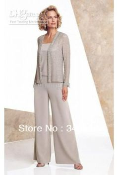 Mother of the Bride Pant Suits Fashion with jacket  Evening Dresses party dresses Prom dresses pant suits- 1011 $104.00