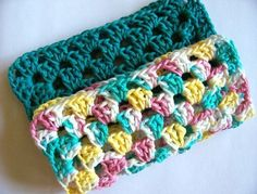 Crocheted Dishcloth Pair Handmade Cotton by GriffithGardens