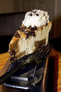Try creating your own version of Cheesecake Factory Chocolate Chip Cookie-Dough Cheesecake. The recipe for this delicious dessert can be found here http://www.copycatrecipeguide.com/How_to_Make_Cheesecake_Factory_Chocolate_Chip_Cookie-Dough_Cheesecake