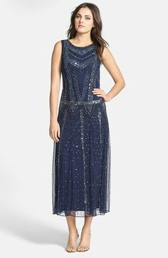 Pisarro Nights Embellished Mesh Midi Gown | Nordstrom