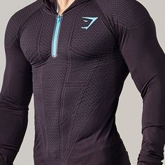 Gymshark Onyx Seamless Hooded Top - Black - Hoodies & Jackets - Shop By Category - Mens