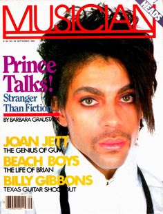 Prince on the cover of Musician magazine. Billy Gibbons, Photos Of Prince, Prince Purple Rain, Joan Jett, Roger Nelson, Prince Rogers Nelson, Day Of My Life, My Prince, American Singers