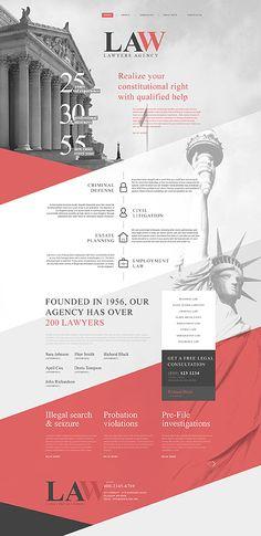 Template 58753 - Lawyers Bureau  Responsive Website Template