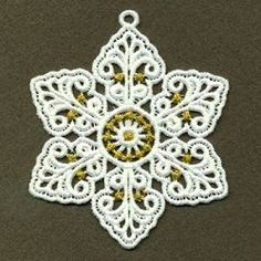 FSL Snowflake 9, 5 - 4x4 | FSL - Freestanding Lace | Machine Embroidery Designs | SWAKembroidery.com Ace Points Embroidery