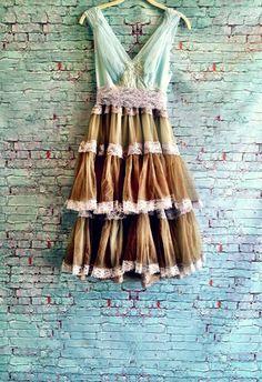 robins egg blue & frothy seaweed chiffon alencon lace mermaid chiffon crinoline party dress by mermaid miss k