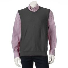 Big & Tall SONOMA life + style  Classic-Fit Fine Gauge Sweater Vest $21.99