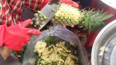 Asian Street Food   Cambodia Street Food - How to cutting pineapple, Al...