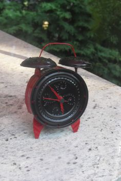 Tin can clock working made from recycled materials by tinstuff, $25.00