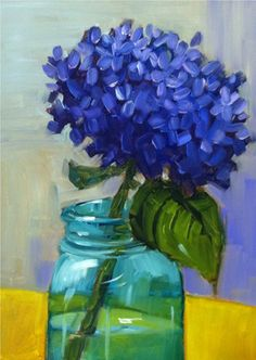 Happy Hydrangea by Libby Anderson Libby Anderson shows you how to layer colors in this stunning hydrangea project painted with oils. She shares her tips on setting up a simple still life and guides you through the steps to complete this quick and fabulous painting!