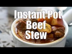 Fast, easy, and delicious, this Instant Pot beef stew cooks up in just an hour and tastes like its been simmering slowly all day long!