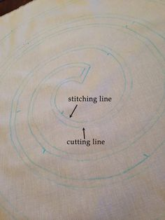 Mark cutting line 1/4 in INSIDE traced line