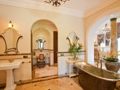 Villa for sale with 5 classic and stylish bathrooms, stunning sea views, Listing ID 1169, La Zagaleta Golf and Country Club, Marbella West, Costa del Sol, Spain.