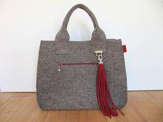 Tasche Maxishopper aus Filz  von margarisa auf DaWanda.com
