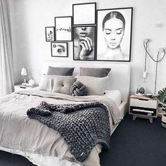 Apartment decor Modern - Gorgeous Modern Scandinavian Bedroom Design And Decor Ideas Modern Master Bedroom, Modern Bedroom Decor, Scandinavian Bedroom, Stylish Bedroom, Bedroom Rustic, Contemporary Bedroom, Modern Decor, Bedroom Boys, Cozy Bedroom