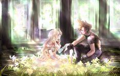 Final Fantasy VII - Cloud Strife x Aerith Gainsborough Final Fantasy Vii, Final Fantasy Female Characters, Final Fantasy Artwork, Fantasy Series, Videogames, Vincent Valentine, Gamers Anime, Sad Anime, Cloud Strife