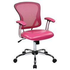 Office Star Peyton Task Chair (20970 RSD) ❤ liked on Polyvore featuring home, furniture, chairs, office chairs, pink, mobile cart, adjustable chair, mobile home furniture, pink desk chairs and office star office chairs