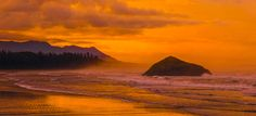 long beach sunrise panorama at incinerator rock by. mist canada landscape sunset orange seascape panorama colourful long beach long beach sunset BC now Landscape Photos, Landscape Photography, Travel Photography, Beach Sunrise, Cool Landscapes, Photos Of The Week, Long Beach, Sunsets, Tourism