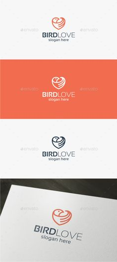 Bird Love Logo Template Vector EPS, AI. Download here: http://graphicriver.net/item/bird-love-logo/15341783?ref=ksioks