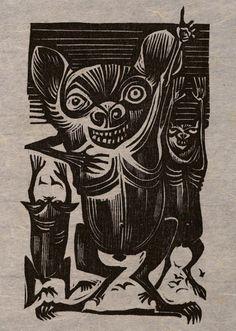 'Los Renegados' (1963) by Puerto Rican artist Lorenzo Homar (1913-2004). Woodcut. via vision doble