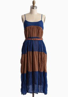Brisas Striped Belted Dress | Modern Vintage Dresses