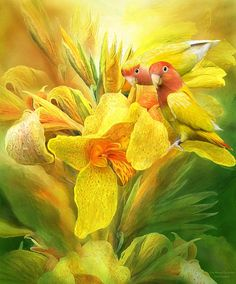 Love Among The Orchids Mixed Media by Carol Cavalaris