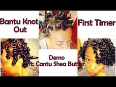 3c/4a Natural Hair | Bantu Knot Out Demo | My First Attempt - YouTube
