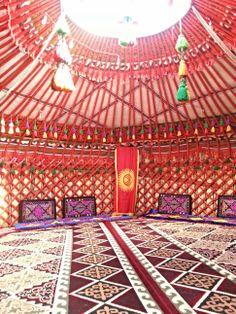 Kirgiz Kirgizistan - Kyrgyz - Kyrgyzstan Flag Jurt Yurt Cadir  - Кыргызстан - Yurt - Боз үй -  Boz Üy