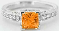 I WOULD LOVE THIS!!    orange yellow diamond ring - Bing Images