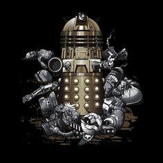 Camiseta Doctor Who. Dalek destructor
