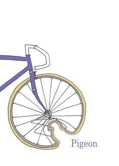 Bicycle prints Philiprints cycling art design illustration