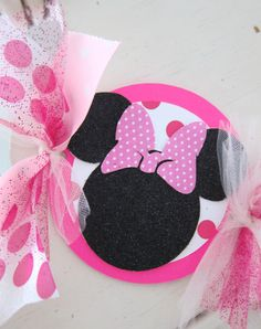 Neon Hot Pink Minnie Mouse Birthday Banner