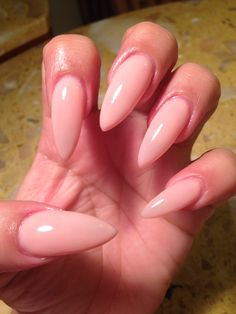 Naked stiletto nails ❤️