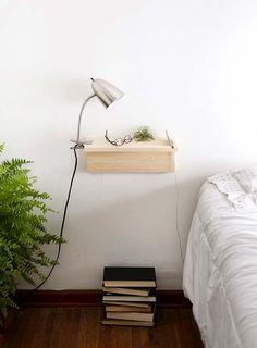 White Floating Shelves, Floating Shelves Bathroom, Shelf Nightstand, Floating Nightstand, Nightstand Ideas, Shelf Headboard, Shelf Desk, Corner Shelves, Wall Shelves