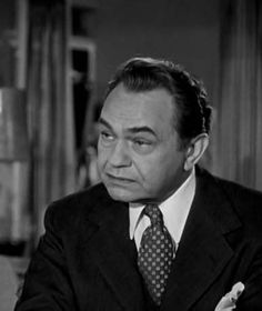 """Edward G. Robinson en""""El Regreso del Gángster"""" (A Bullet for Joey), 1955"""